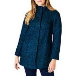 Anne Klein | Wool Blend Melange Coat